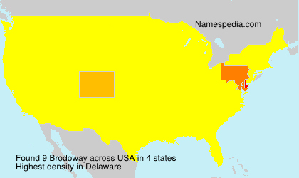 Surname Brodoway in USA