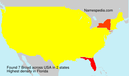 Surname Broyd in USA
