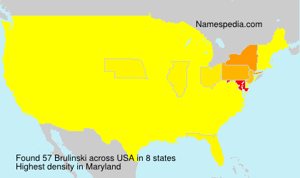 Surname Brulinski in USA