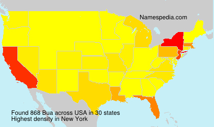 Surname Bua in USA