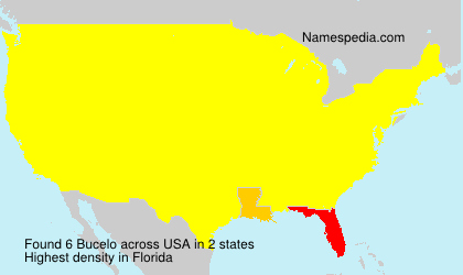 Surname Bucelo in USA
