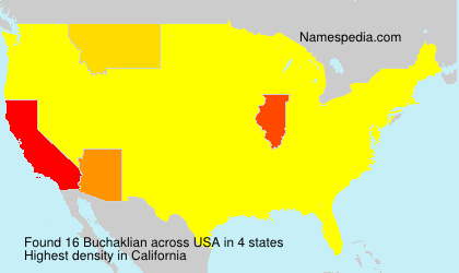 Surname Buchaklian in USA