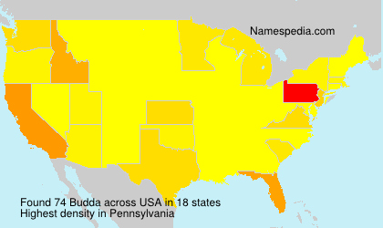 Surname Budda in USA