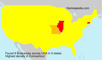 Surname Budyansky in USA