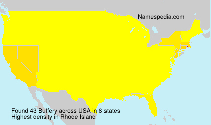 Surname Buffery in USA