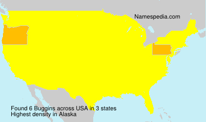 Surname Buggins in USA