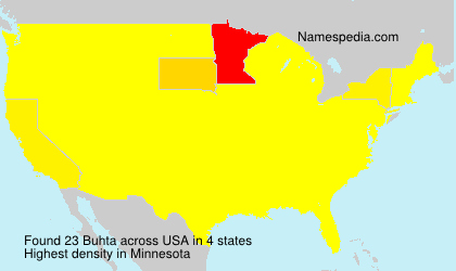 Surname Buhta in USA