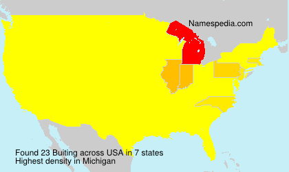 Surname Buiting in USA