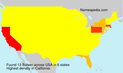 Surname Bulwer in USA
