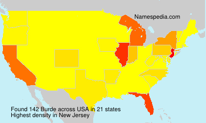 Surname Burde in USA