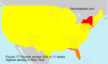 Surname Burdier in USA
