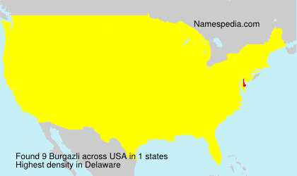 Surname Burgazli in USA