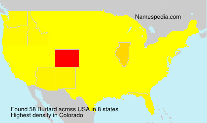 Surname Burtard in USA