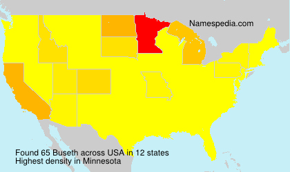 Surname Buseth in USA
