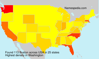 Surname Buston in USA