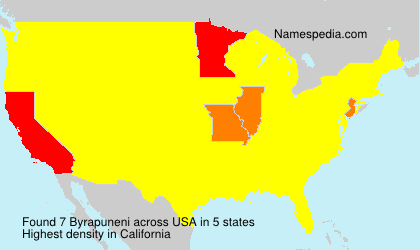 Surname Byrapuneni in USA