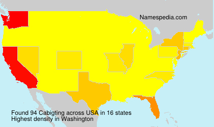Surname Cabigting in USA