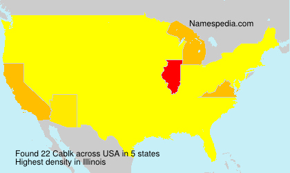 Surname Cablk in USA