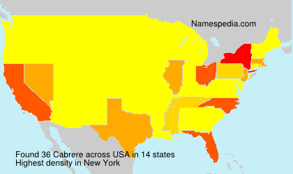Surname Cabrere in USA
