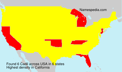 Surname Cadil in USA