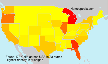 Surname Califf in USA