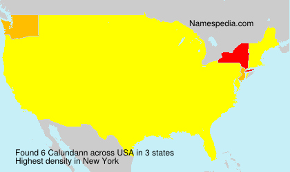 Surname Calundann in USA