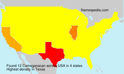 Surname Camaganacan in USA