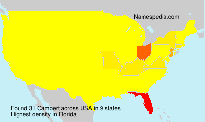 Surname Cambert in USA