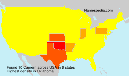 Surname Camern in USA