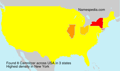 Surname Camnitzer in USA