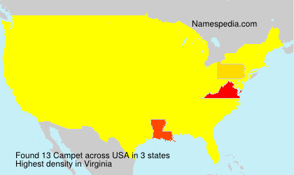 Surname Campet in USA