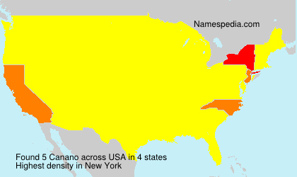 Surname Canano in USA