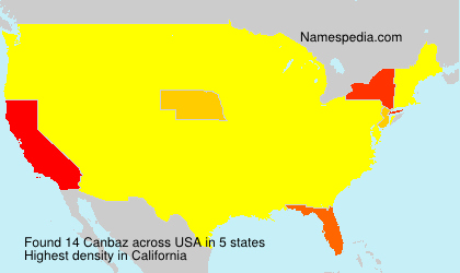 Surname Canbaz in USA