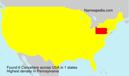 Surname Canceliere in USA