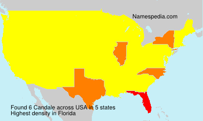 Surname Candale in USA
