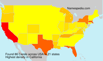 Surname Cande in USA