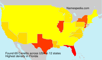 Surname Canellis in USA