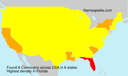 Surname Cannizarro in USA