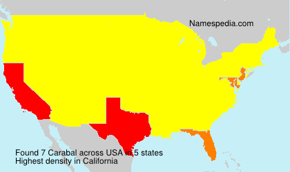 Surname Carabal in USA