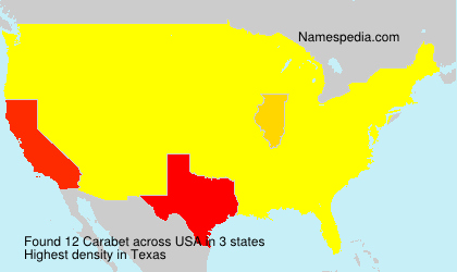 Surname Carabet in USA