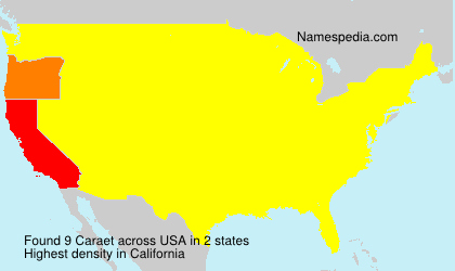 Surname Caraet in USA