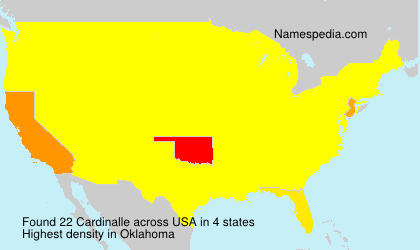 Surname Cardinalle in USA