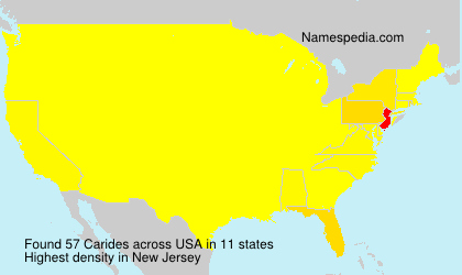 Surname Carides in USA