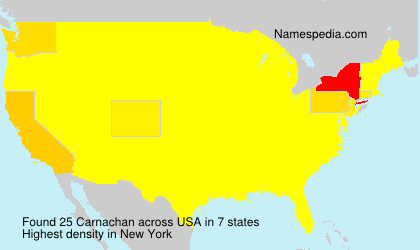 Surname Carnachan in USA