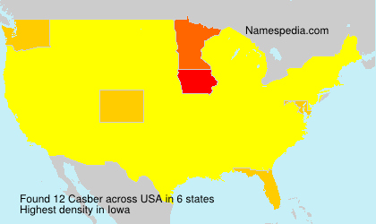 Surname Casber in USA