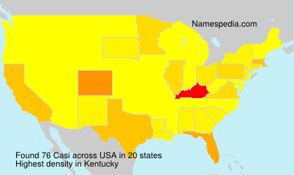 Surname Casi in USA