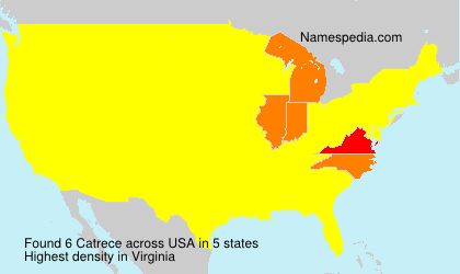 Surname Catrece in USA