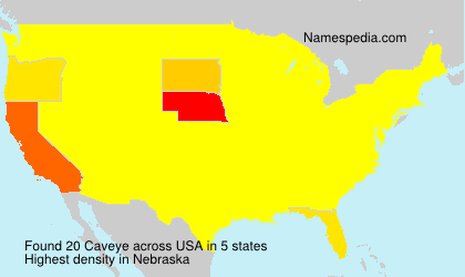Surname Caveye in USA