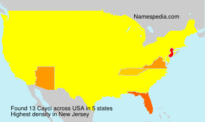 Surname Cayci in USA