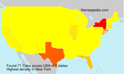 Surname Ceka in USA